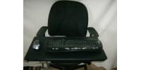 LIBERTÉ 1 CL station de jeux et bureau mobile ergonomique à installation universel pour ordinateur portable clavier et souris sans fil